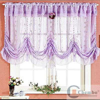 purple elegant water wave design roman blind lace shades curtains