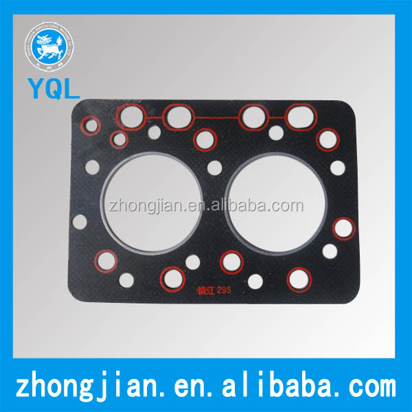 High quality top gasket cylinder head gasket with red wire 295 diesel engine