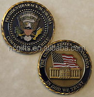 Custom design high quality Low Price Custom President of United States Barack H Obama Challenge Coin
