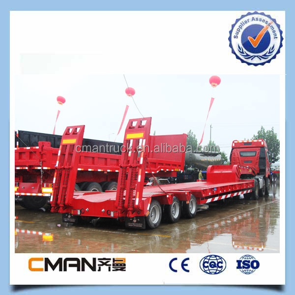 brand new 40 tons tri axle trailer sale in Liangshan trailer exhabition