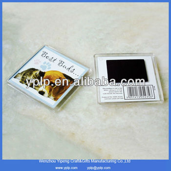 Custom Blank Clear Plastic Acrylic Fridge Magnet Photo Frame