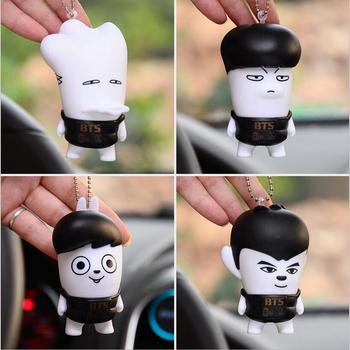 Kpop Bts Bangtan Boys Keychains Pendant Jungkook Jimin Jin V Suga In Bloom  Pvc Action Figures Key Chain - Buy Bts Keychain,Kpop Keychain,Fans Keychain