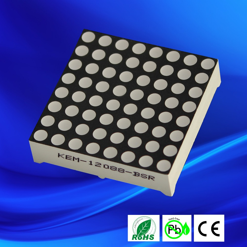 Wholesale Alibaba <strong>express</strong> pure green 3mm 8x8 led dot matrix display