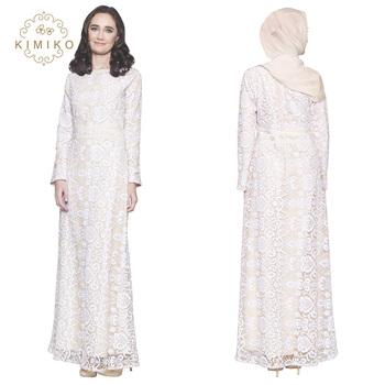2018 Modern White Lace Muslim Formal Kaftan Dress Buy Muslim Women