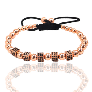 CZ beads rose gold fancy hand chain bracelet accessories for women