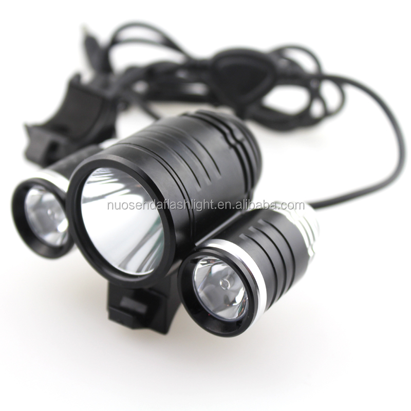 TrustFire TR-D003 1 xCREE XML T6 + 2 xCREE XP-E R21800LM 3-Mode LED Bicycle Light com Bateria e carregador