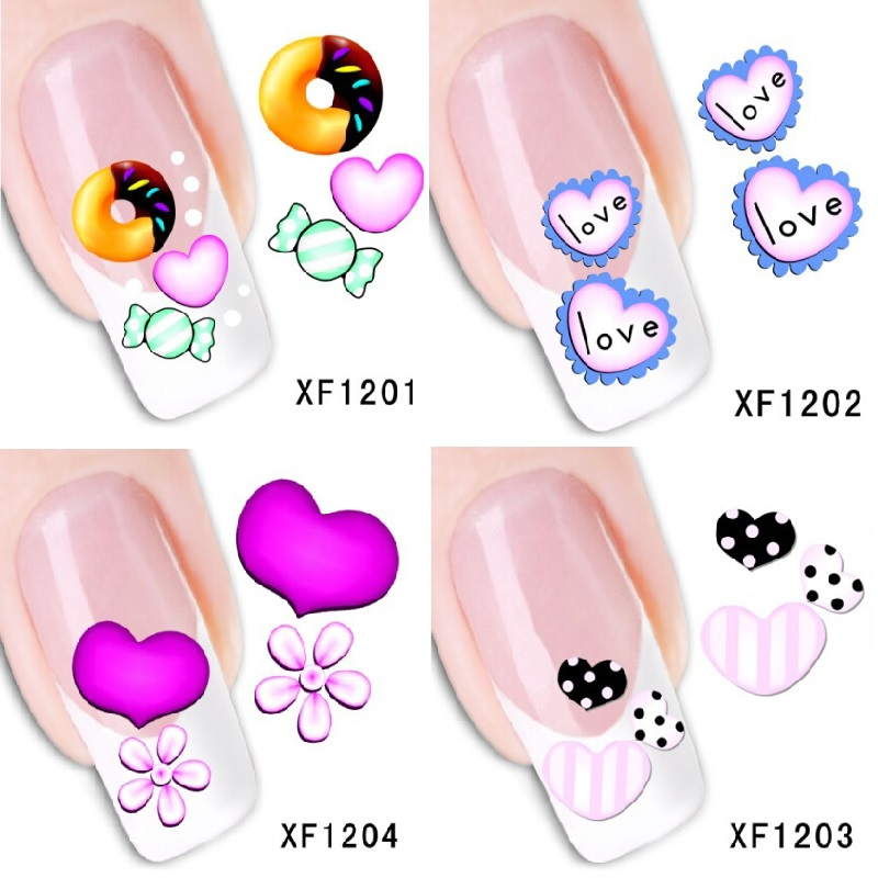 20piece Wedding Love Nail stickers nail art decorations pegatinas unas reine des neiges finger nail stickers