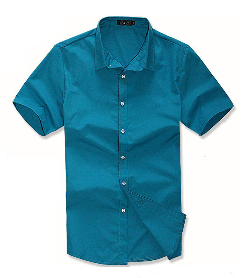 Famous Brand Men Shirt Short Sleeve 2015 Summer Fashion Casual Turn-down Collar Shirt NW540