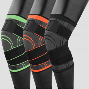 Wholesale Sport Elastic Breathable Compression Knee Support Knitted Running Knee Protector