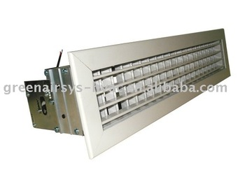 Double Blades Air Register With Motorized Damper Hvac