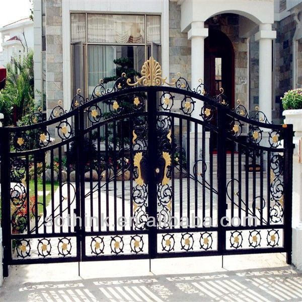 2015 New Style And Good Qualitity Wrought Iron Electric Gate Design