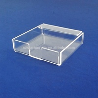 Acrylic Manufacture Square Transparent Acrylic Memo Pad Card Holder