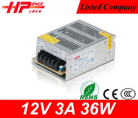 Factory price CE RoHS small driver led 3a 12v 36w ac dc power supply led driver 5a 60w 12v mini smps power supply