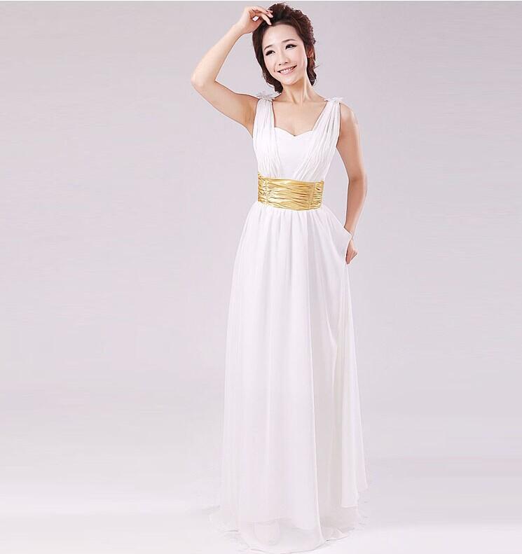 Custom Made Greek Goddess Concise Slim Waist White Wedding