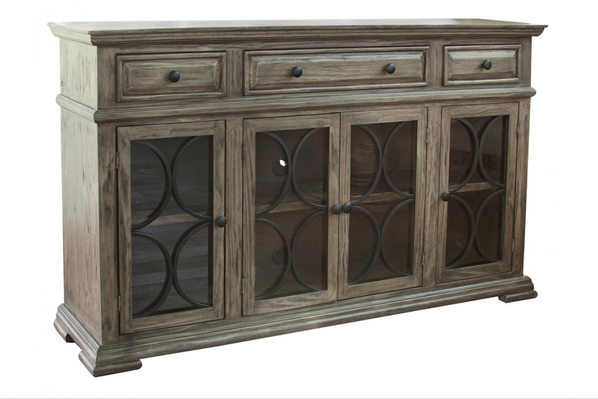 Get Quotations Keystone Rustic Solid Wood Sideboard Media Console With 4 Doors 3 Drawers