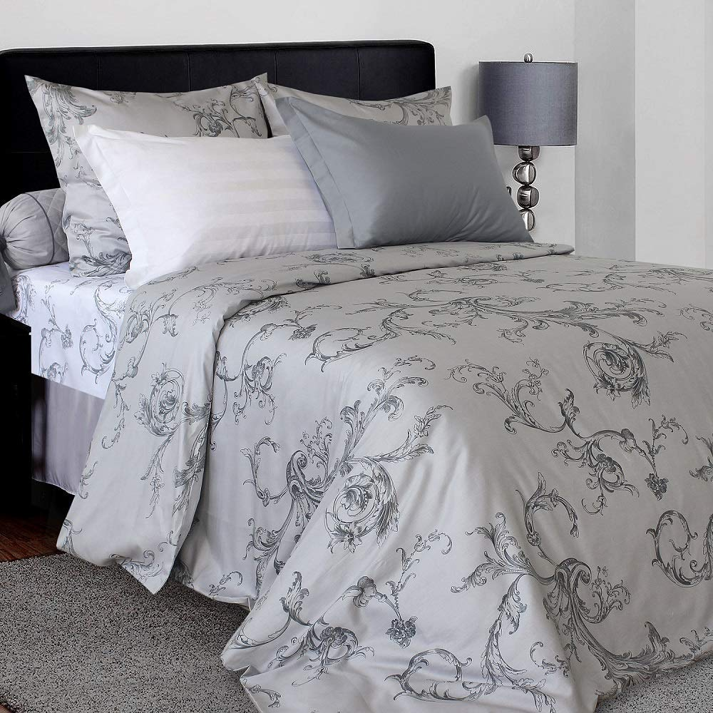 Likeahome Fl Duvet Cover Set Ed Sheet 100 Cotton Sa Soft Silky 4