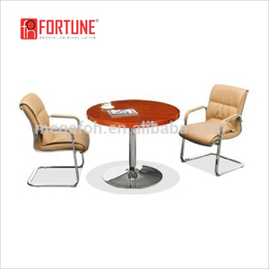 Modern Special Round Office Discussion Table/Meeting Desk with metal legs(FOHQ-1002#)