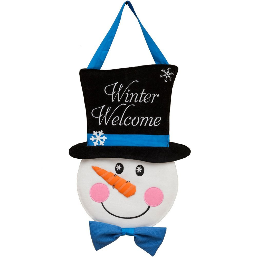 Custom Décor Snowman Welcome Hang Around