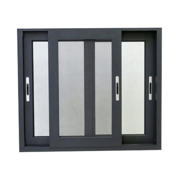 Double Glazed Gl Aluminum 3 Tracks Sliding Windows With Mosquito Net Or Blinds