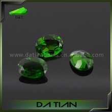 Natural dark green diopside stone oval cut diopside in loose gemstone