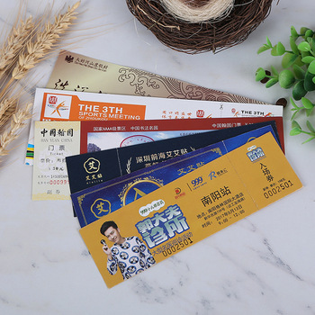Thermal Paper printing fanfold bus train event movies plane airline Flight ticket