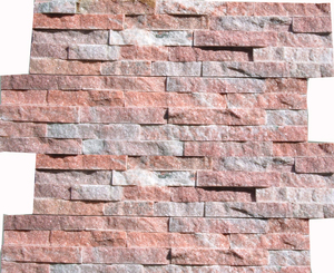 Direct factory supply Pink color slate stone stacked culture stone