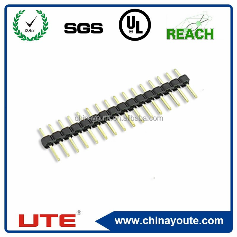 Board to Board Connector Gold Plated 2.54mm Pitch single Pin header