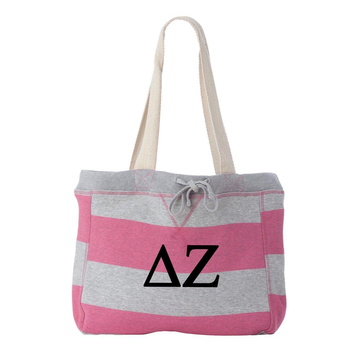 Delta Zeta Striped Beachcomber Tote Bag