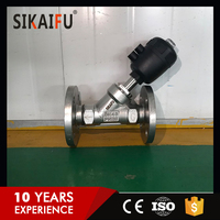 Looking for agent Stainless Steel 304 flanged Pneumatic Angle Seat Valve of DN 15-80