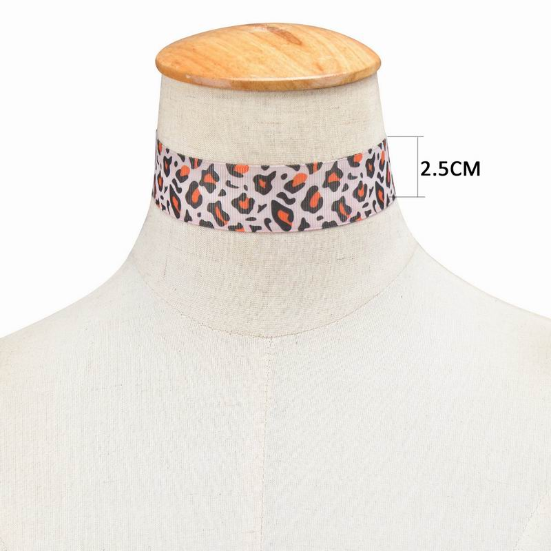 Popular Bohemia Handmade Leopard And Zebra Print Choker Necklace Leather Fashion Choker Necklace For Women