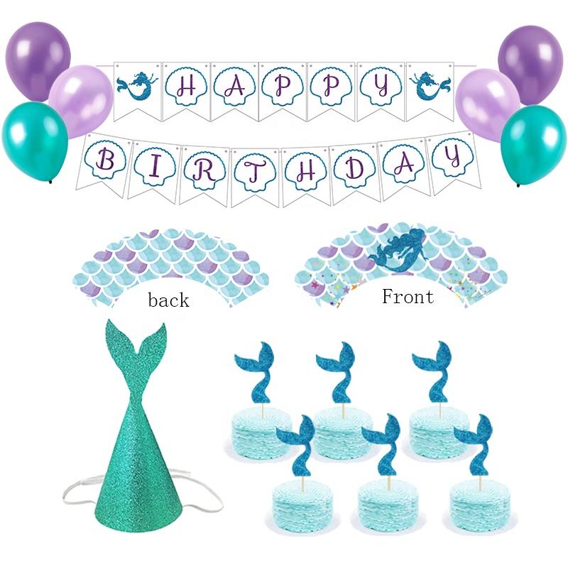 Meerjungfrauen Decoraciones De La Fiesta De Sirena Kits De Fiesta De Cumpleaños Suministros