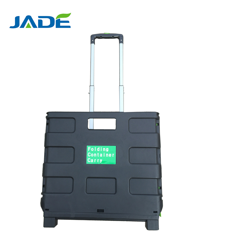 Water carry plastic folding cart/35 kg load capacity lightweigth luggage trolley with wheel
