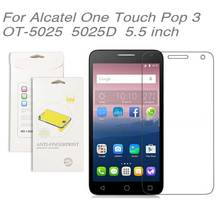 For Alcatel One Touch Pop 3 OT-5025 5025D 5.5 inch,3pcs/lot High Clear LCD Screen Protector Film Screen Protective Film
