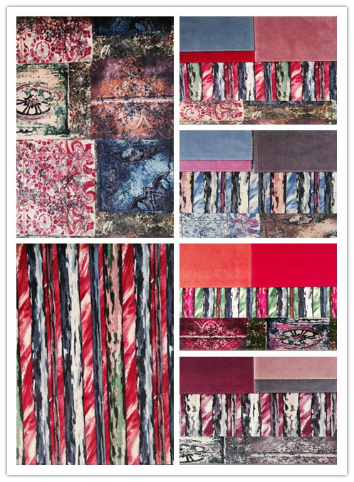 China Supplier chinese 100%Polyester printed velvet curtain fabric for home decor