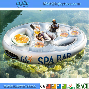 Floating Bar Inflatable Spa Blow Float Pool Refreshment Hot Tub Water Cooler