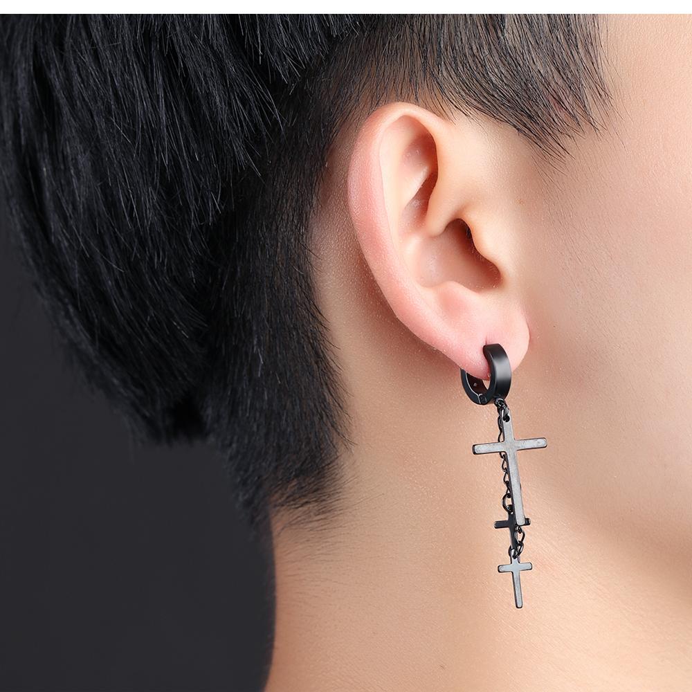 2017 New Model Tassel Earrings Jewelry Hanging Jesus Gold Cross ...