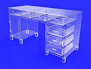 FixtureDisplays Executive Clear Acrylic Plexiglass Desk Rack for Beverage Chewing Gums Cigrettes Energy Bars 10344