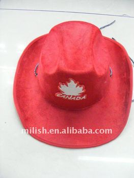 party colorful Canada cowboy hat  velvet hat canadian cowboy hat MH-0403 645e740e8f6