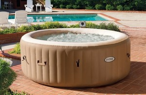 luxury round hot tub, inflatable hot tub, 8 person inflatable hot tub