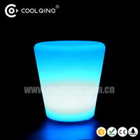 LED flower pot /bright color flower pot/ led square flower pot