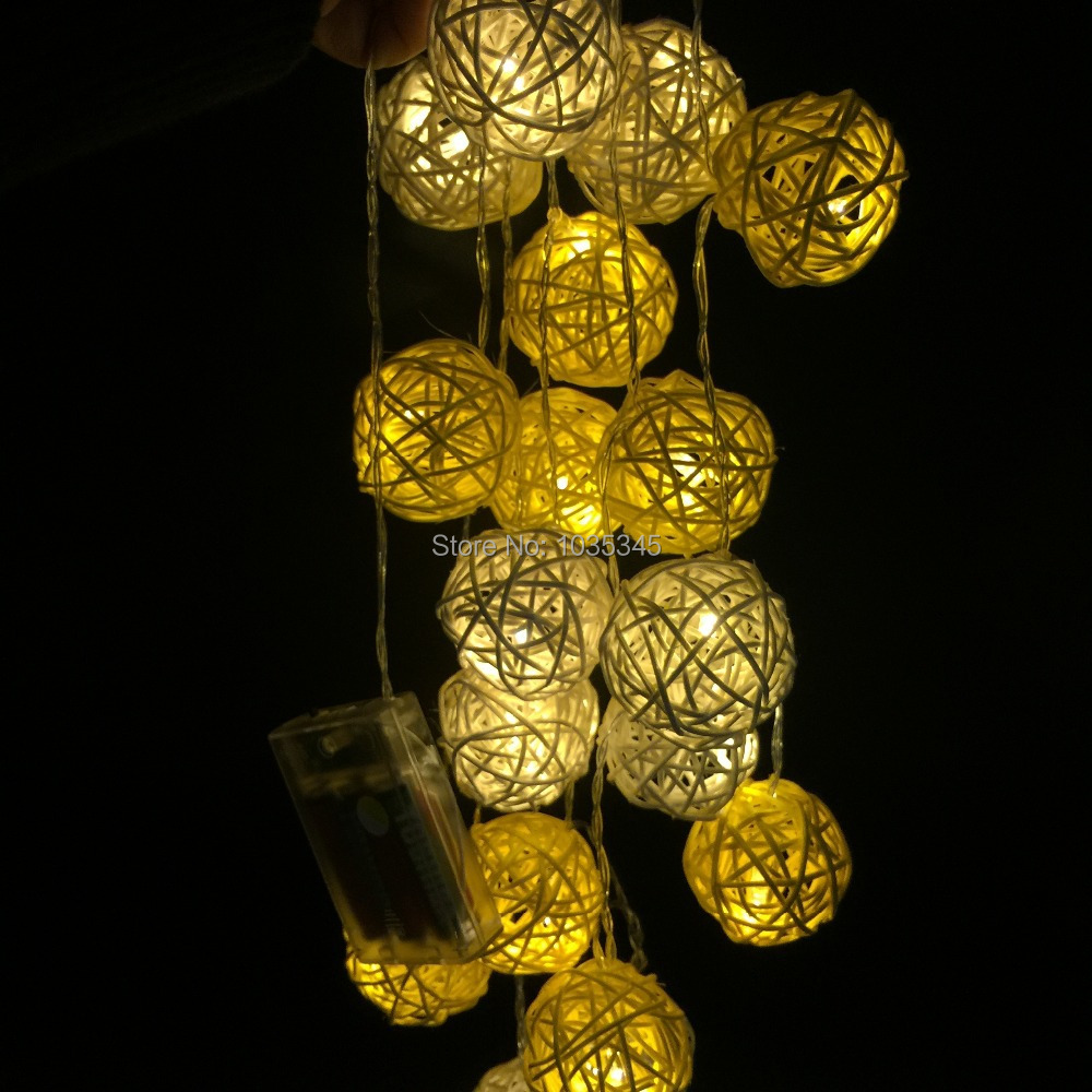 Buy 20 set handmade rattan ball string - Fairy light decoration ideas ...