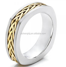 Men's Braided Two-tone Wedding Band, Stainless Steel Used Boxing Ring For Sale