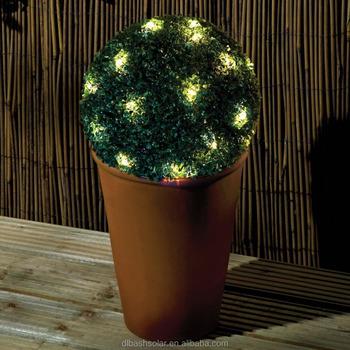 Solar Power 28CM TOPIARY BALL HANGING GARDEN LIGHT Solar Powered Decoration Garden  Balls Light