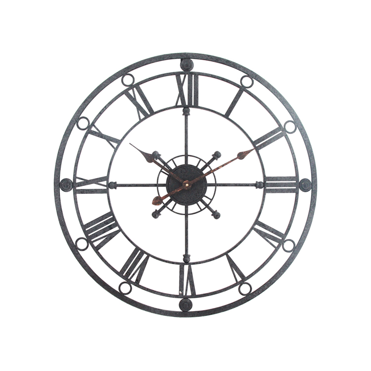 Make Your Own Wall Clock 3D Circular Retro 68cm Wrought Hollow Iron Vintage Craft