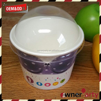 Ice Cream Cones Bowl with Dome Clear Lid
