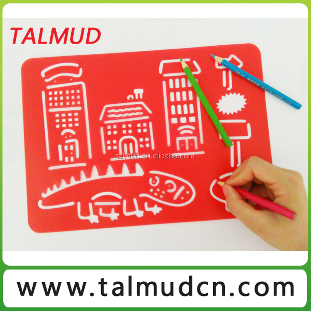 Customized Plastic Drawing Stencil For Children