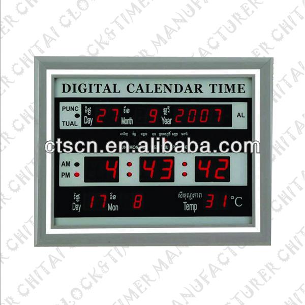 Led Electronic Calendar Wall Mounted