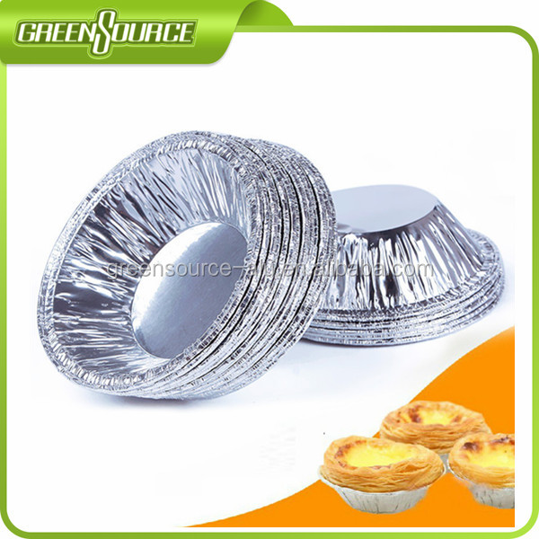 Aluminum foil made egg tart/pudding moulds for Christmas/Holiday use