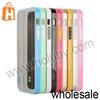 0.9mm Dual-color Style Hybrid Silicone+PC Hard Bumper Ultra Thin Case for iPhone 5/5S