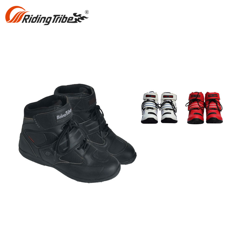 Safety black Riding Motorcycle Boots A005